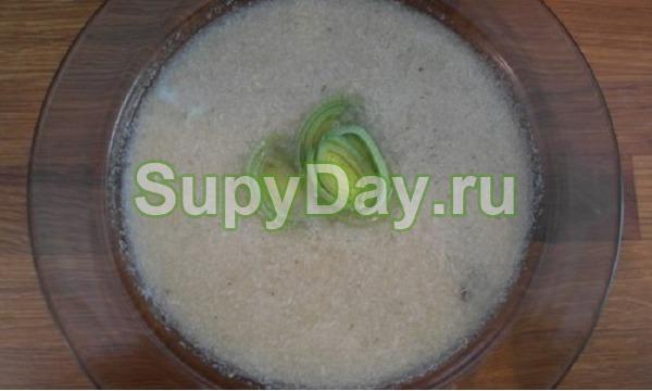Луковый суп пюре из курицы