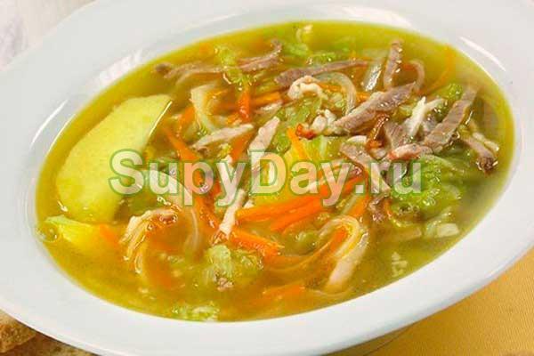Картофельный суп на говяжьем бульоне