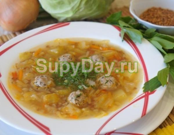 Суп с капустой кольраби