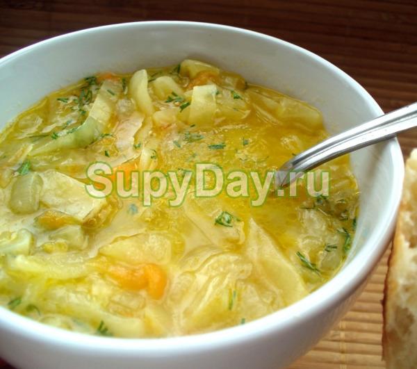 Суп с капустой и луком