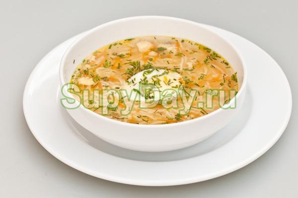 Суп с вермишелью и яйцами