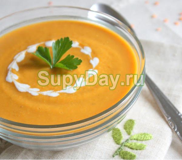 Суп - пюре из чечевицы в мультиварке