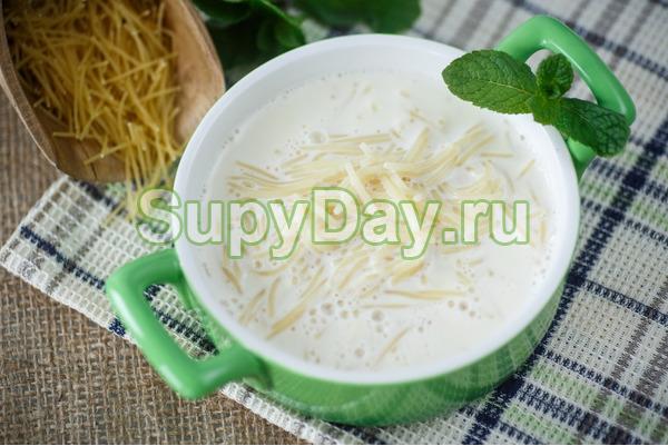 Молочный вермишелевый суп