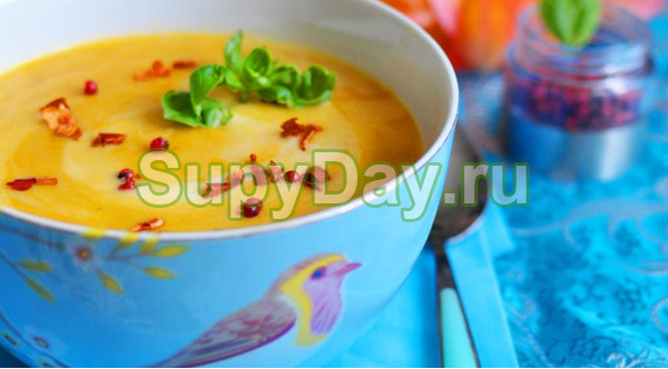 Тайский тыквенный суп с кокосовым молоком