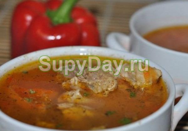 Картофельный суп - соус со свининой