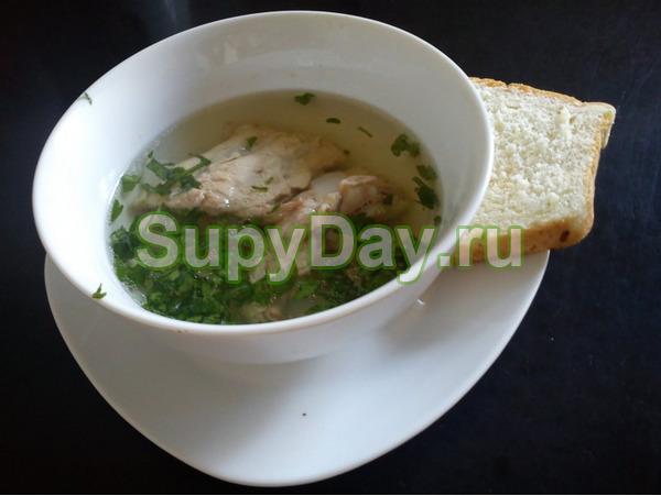 Суп со свининой и картофелем в мультиварке