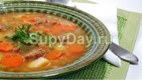 Суп - харчо из свинины, картофеля и риса