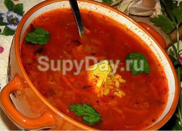 Харчо с рисом и натуральным сливовым соусом – истинное блюдо Грузии
