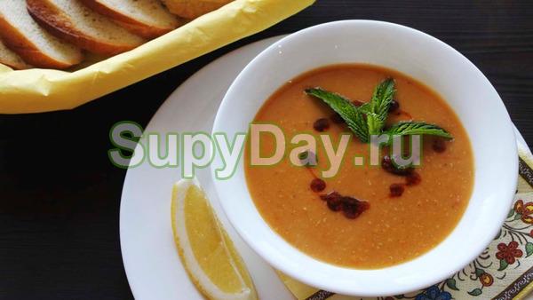 Крем – суп из красной чечевицы